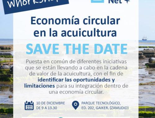 ¡Únete al próximo taller de BLUENET sobre economía circular y acuicultura!